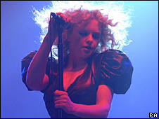 Goldfrapp on stage