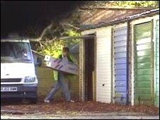 A gang member unloading drugs in Marlborough Gardens
