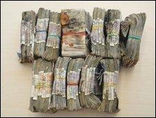 Money found in a safe at Deer Park