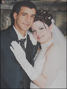 Taiseer and Lana Khatib, wedding picture