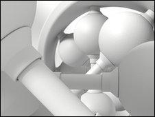 Computer artwork of a DNA molecule