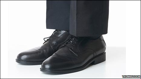 Suit trousers and shoes
