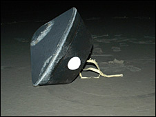 Stardust capsule after returning to Earth (Nasa)