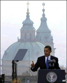Barack Obama in Prague April 2009