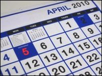 Calendar highlighting 5th April