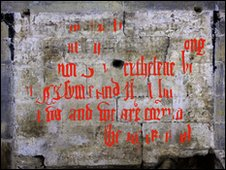 Cathderal wall inscription reconstructed - Pic: John Crook