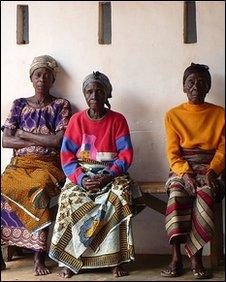 Ghanaian female royal elders  [Photo by BBC News website reader Jeannie Elliott]