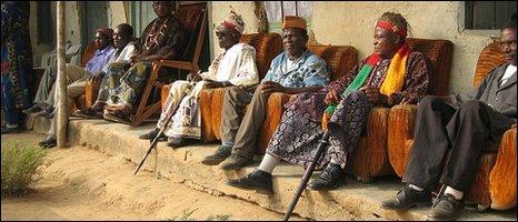 Cameroon clan elders  [Photo by BBC News website reader Jessica Sullivan]