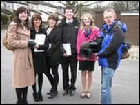 The survey team of trainee journalists from Leeds trinity University College