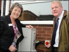 South Tyneside Homes' Isobel Riley and Cllr Jim Sewell