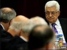President Mahmoud Abbas chairs a meeting of the PLO executive committee