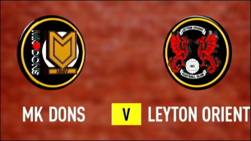 MK Dons 1-0 Leyton Orient
