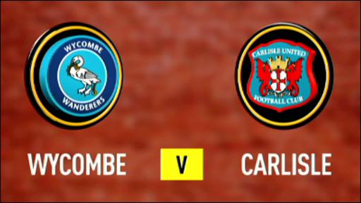 Wycombe 0-0 Carlisle