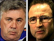 Carlo Ancelotti and Martin O'Neill