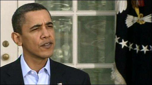 President Barack Obama makes a speech following Iraq elections