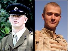 Rifleman Jonathon Allott (L) and Rifleman Liam Maughan