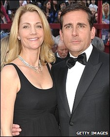 Steve Carell, with wife Nancy
