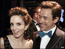 Tina Fey and Robert Downey, Jr