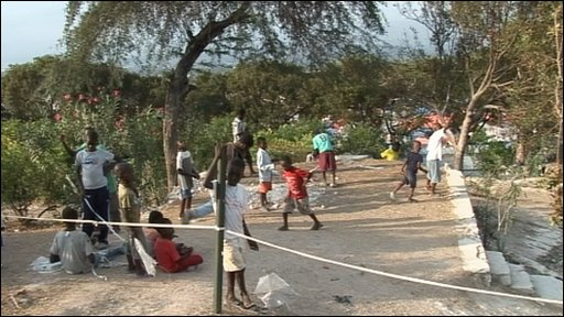 Children play in Haiti