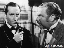 Basil Rathbone & Nigel Bruce In 'The Adventures of Sherlock Holmes' 1939