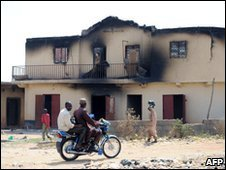 Burnt-out school in Jos, 22/01