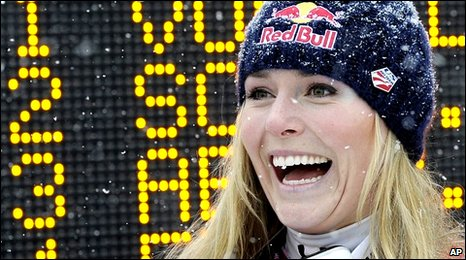 Lindsey Vonn in Switzerland last week
