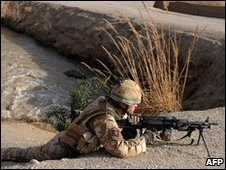 British soldier in Helmand province