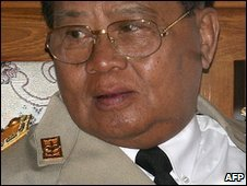 Burma's leader Gen Than Shwe (file image)