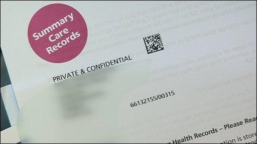 Health database letter
