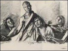 The Last Supper sketchings