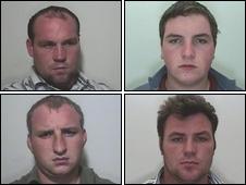 Clockwise from top left: Martin McDonagh, Martin Ward, John McDonagh, Charlie Ward