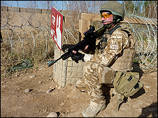 UK soldier in Sangin