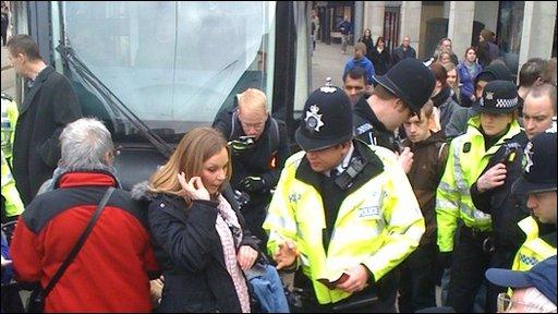 Protest at Nottingham's Market Square