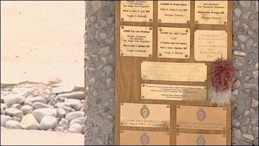 A memorial in Sangin
