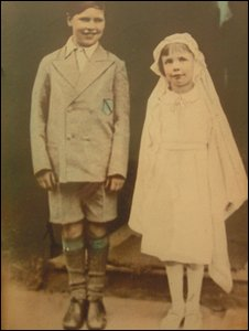 Timothy Evans and his half sister Mary on the day of their confirmation