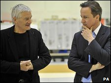 Sir James Dyson (left) and David Cameron