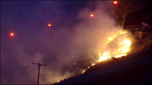 Fire at Penrhys, Rhondda