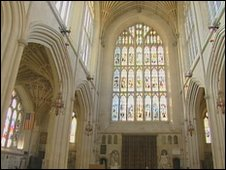 Interior of Bath Abbey