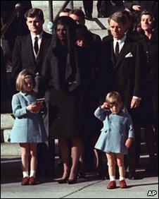 Kennedy family at JFK's funeral, 25 Nov 1963