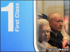 The Queen takes the train to Sandringham