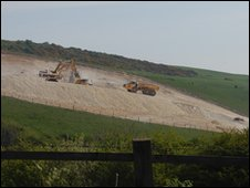 Weymouth Relief Road construction