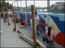 A mural added a splash of colour to the playground