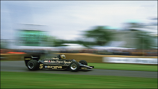 The 1977 Lotus Cosworth 1978 in action