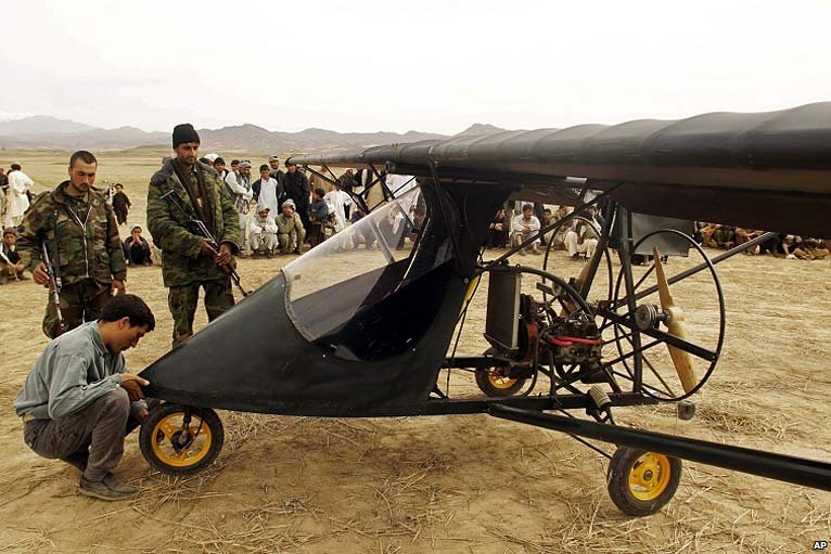 Mohammed Asef Nabizada and his plane