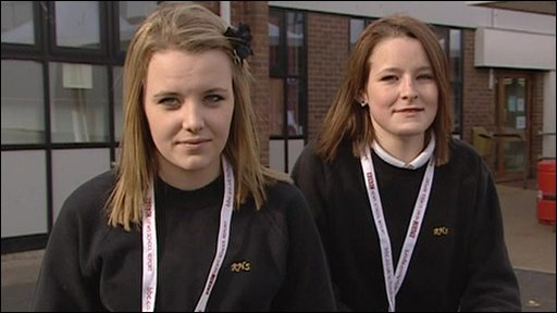 Two students from Rhyl High School