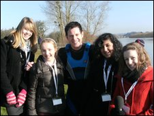 Year 8 Reporters from Stroud High with Matt Baker