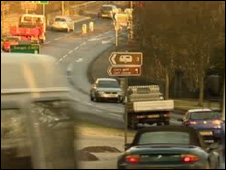 The bypass would take traffic away from Bontnewydd