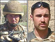 Cpl Stephen Thompson, L/Cpl Tom Keogh
