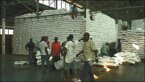 UN food aid warehouse near Port-au-Prince