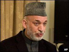 President Hamid Karzai, 8 Mar